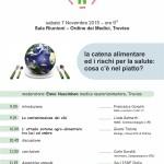 2015.11.07 Treviso - La catena alimentare ed i rischi per la salute. Cosa c'è nel piatto